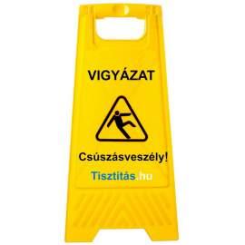 Csúszásveszély figyelmeztető tábla (magyar felirat)